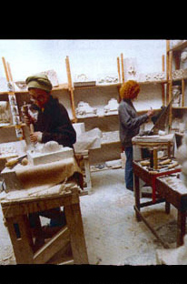 students during a sculpture class