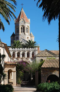 view of the Abbey St honorat