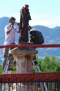 restoration of the statue of St honorat